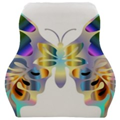 Abstract Animal Art Butterfly Copy Car Seat Velour Cushion  by Jojostore