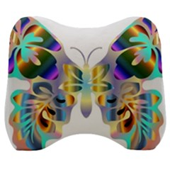 Abstract Animal Art Butterfly Copy Velour Head Support Cushion by Jojostore