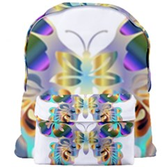Abstract Animal Art Butterfly Copy Giant Full Print Backpack by Jojostore