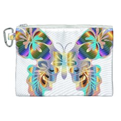 Abstract Animal Art Butterfly Copy Canvas Cosmetic Bag (xl) by Jojostore