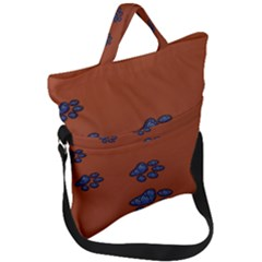 Footprints Paw Animal Track Foot Fold Over Handle Tote Bag by Jojostore