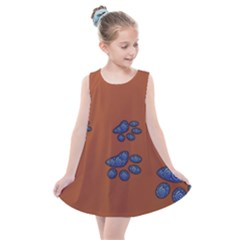 Footprints Paw Animal Track Foot Kids  Summer Dress