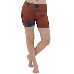 Footprints Paw Animal Track Foot Lightweight Velour Yoga Shorts