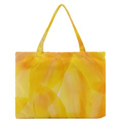 Yellow Pattern Painting Zipper Medium Tote Bag by Jojostore