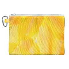Yellow Pattern Painting Canvas Cosmetic Bag (xl) by Jojostore