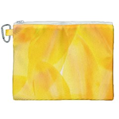 Yellow Pattern Painting Canvas Cosmetic Bag (xxl) by Jojostore