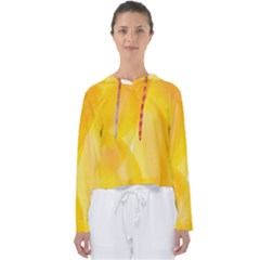 Yellow Pattern Painting Women s Slouchy Sweat