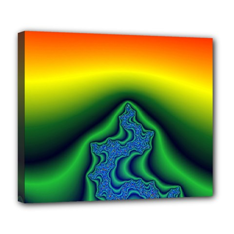 Fractal Wallpaper Water And Fire Deluxe Canvas 24  X 20  (stretched)