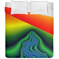 Fractal Wallpaper Water And Fire Duvet Cover Double Side (california King Size)