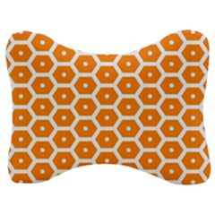 Golden Be Hive Pattern Velour Seat Head Rest Cushion by Jojostore