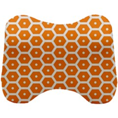 Golden Be Hive Pattern Head Support Cushion