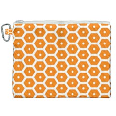 Golden Be Hive Pattern Canvas Cosmetic Bag (xxl) by Jojostore