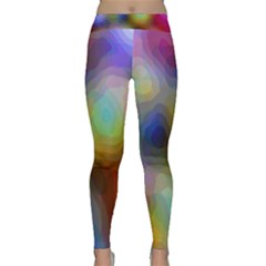 A Mix Of Colors In An Abstract Blend For A Background Classic Yoga Leggings by Jojostore