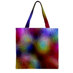 A Mix Of Colors In An Abstract Blend For A Background Zipper Grocery Tote Bag by Jojostore