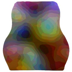 A Mix Of Colors In An Abstract Blend For A Background Car Seat Velour Cushion  by Jojostore