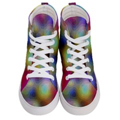 A Mix Of Colors In An Abstract Blend For A Background Women s Hi Top Skate Sneakers