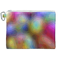 A Mix Of Colors In An Abstract Blend For A Background Canvas Cosmetic Bag (xxl) by Jojostore