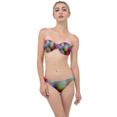 A Mix Of Colors In An Abstract Blend For A Background Classic Bandeau Bikini Set