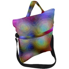 A Mix Of Colors In An Abstract Blend For A Background Fold Over Handle Tote Bag by Jojostore
