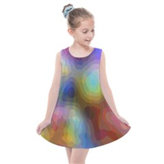 A Mix Of Colors In An Abstract Blend For A Background Kids  Summer Dress