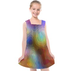 A Mix Of Colors In An Abstract Blend For A Background Kids  Cross Back Dress by Jojostore