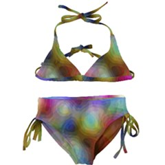 A Mix Of Colors In An Abstract Blend For A Background Kids  Classic Bikini Set