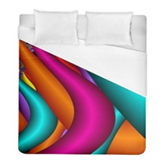 Fractal Wallpaper Color Pipes Duvet Cover (full/ Double Size) by Jojostore
