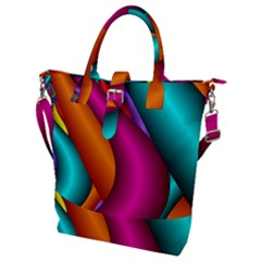 Fractal Wallpaper Color Pipes Buckle Top Tote Bag