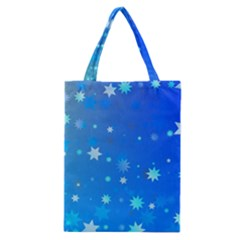 Blue Hot Pink Pattern Blue Star Background Classic Tote Bag