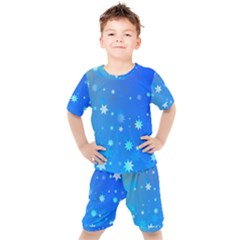 Blue Hot Pink Pattern Blue Star Background Kid s Set