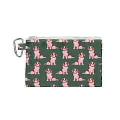 Dog Animal Pattern Canvas Cosmetic Bag (small)