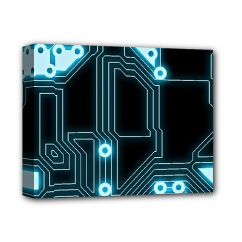 A Completely Seamless Background Design Circuitry Deluxe Canvas 14  X 11  (stretched) by Jojostore