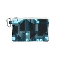 A Completely Seamless Background Design Circuitry Canvas Cosmetic Bag (small)