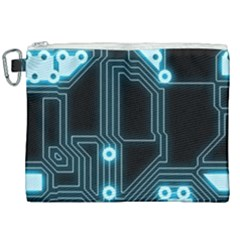 A Completely Seamless Background Design Circuitry Canvas Cosmetic Bag (xxl)