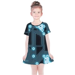 A Completely Seamless Background Design Circuitry Kids  Simple Cotton Dress