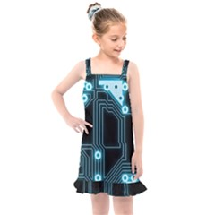 A Completely Seamless Background Design Circuitry Kids  Overall Dress