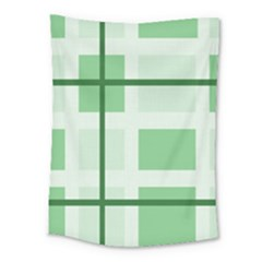 Abstract Green Squares Background Medium Tapestry