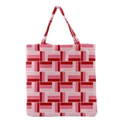 Pink Red Burgundy Pattern Stripes Grocery Tote Bag