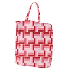 Pink Red Burgundy Pattern Stripes Giant Grocery Tote