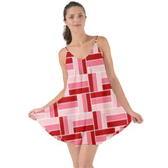Pink Red Burgundy Pattern Stripes Love The Sun Cover Up