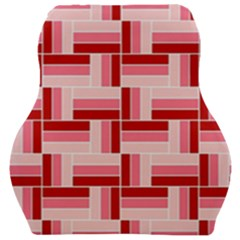 Pink Red Burgundy Pattern Stripes Car Seat Velour Cushion