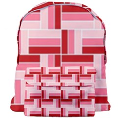 Pink Red Burgundy Pattern Stripes Giant Full Print Backpack by Jojostore
