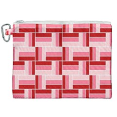 Pink Red Burgundy Pattern Stripes Canvas Cosmetic Bag (xxl) by Jojostore