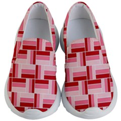 Pink Red Burgundy Pattern Stripes Kid s Lightweight Slip Ons
