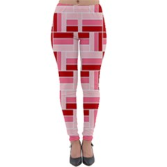 Pink Red Burgundy Pattern Stripes Lightweight Velour Leggings by Jojostore