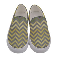Abstract Vintage Lines Women s Canvas Slip Ons