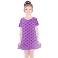 Abstract Lines Background Kids  Simple Cotton Dress