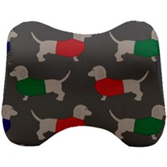 Cute Dachshund Dogs Wearing Jumpers Wallpaper Pattern Background Head Support Cushion