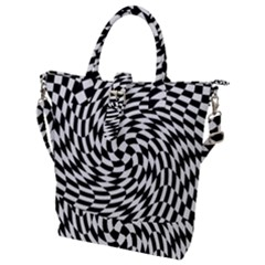 Whirl Buckle Top Tote Bag
