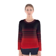 Abstract Of Red Horizontal Lines Women s Long Sleeve Tee by Jojostore